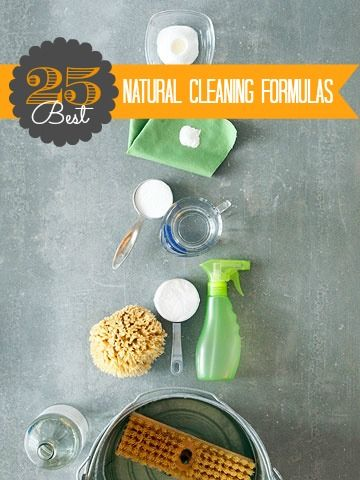 Looking for a less toxic way to keep things clean?  Tons of ideas here for natural cleaning solutions you can make yourself!  |  Remodelaholic
