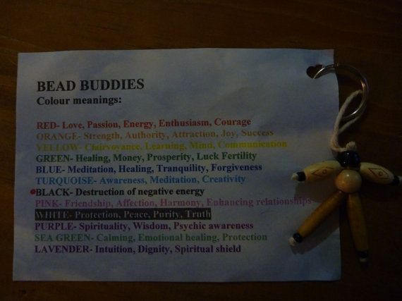 Bead Buddies Key Chain each colour has by BurrowsOfAccessories, $7.00