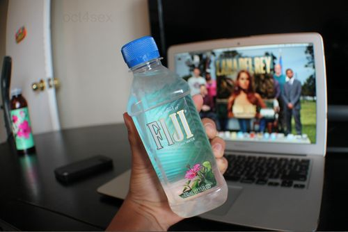 fiji water. ♡ i was obsessed with this stuff before it was popular. #rad