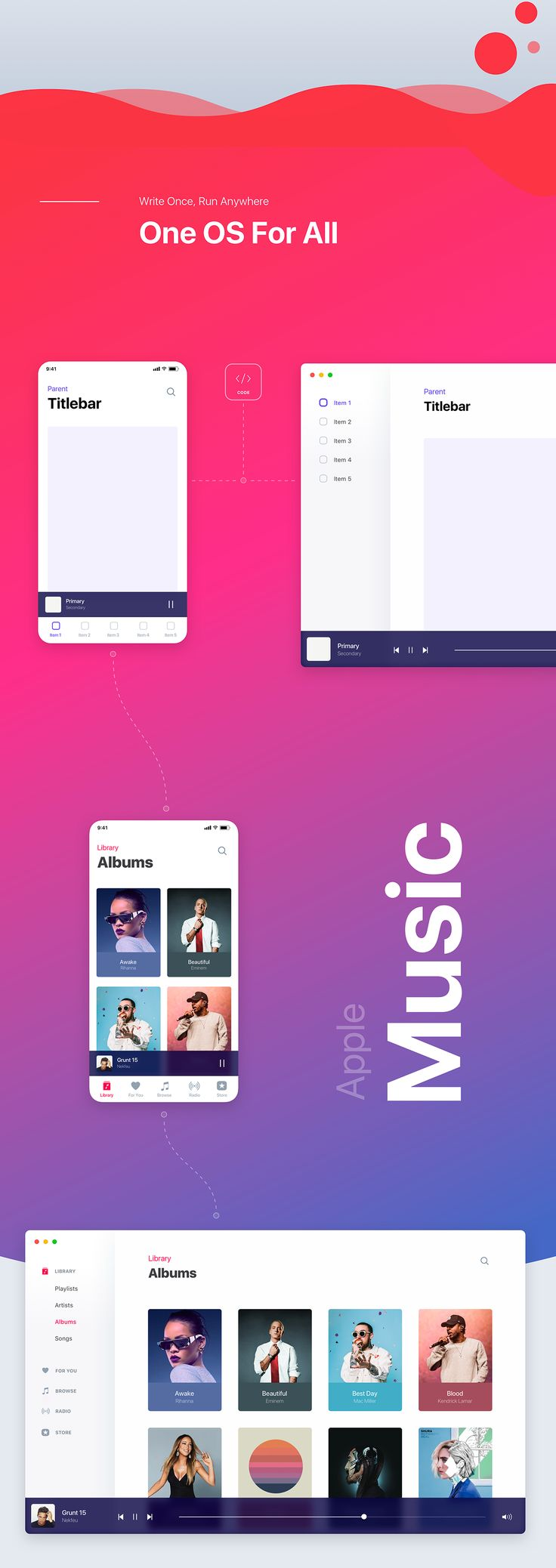 Apple OS concept redesign ( ux, ui, product, augmented reality, operating system, windows, apple, ios, safari, music, finder, design, motion, animation, 3d).This is a concept that I had in mind for a long time and I am happy to share it with you today.…