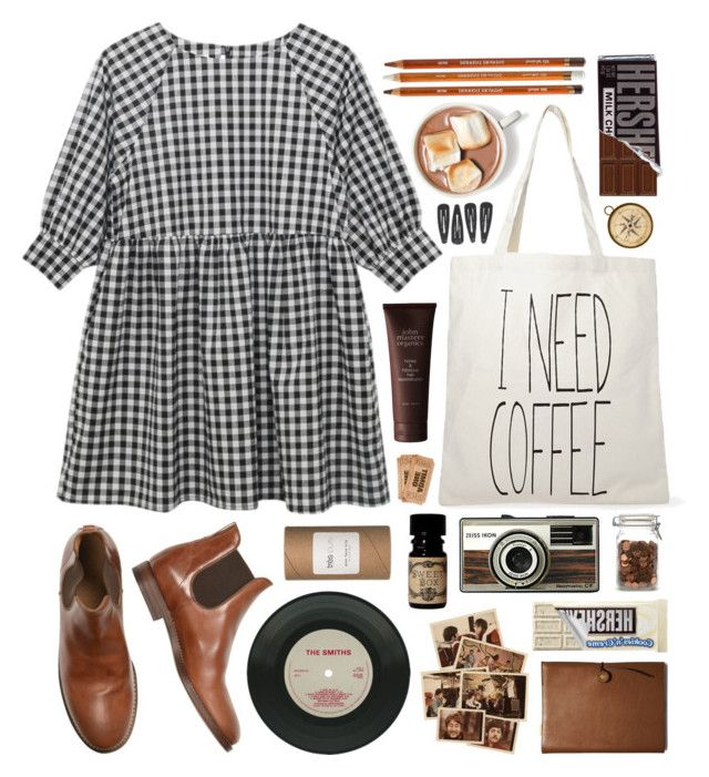 """Smock"" by hanaglatison ❤ liked on Polyvore featuring Forever 21, Très Pure, Coach and John Masters Organics"