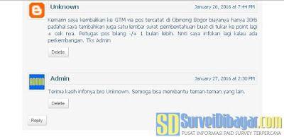 Komentar dari pembaca SurveiDibayar.com yang sudah mengirimkan kembali ceknya. | SurveiDibayar.com