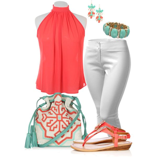 Plus Size Summer, created by kerimcd on Polyvore