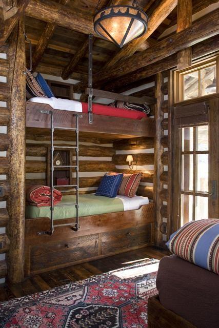 Rustic Cabin Bunk Bed