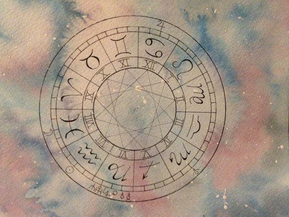 Natal Birth Chart Art  Nebula Galaxy by HoneyLuneHivery on Etsy