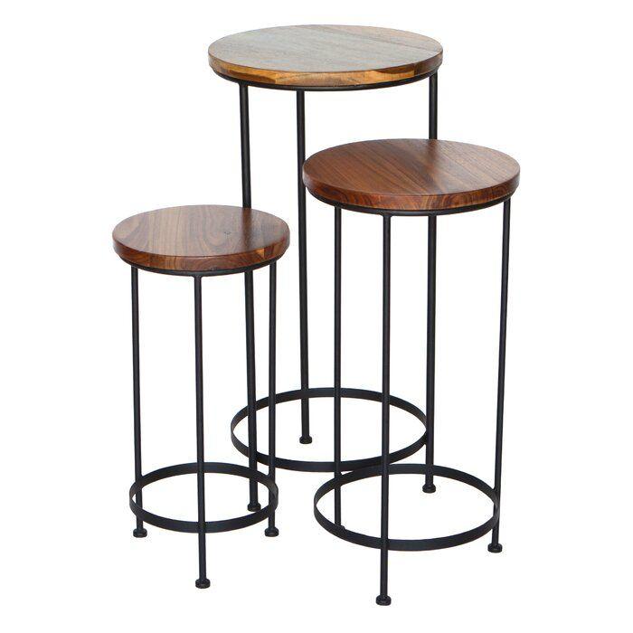 Peakseason 3 Piece Nesting Tables Wayfair Nesting Tables Side Table Metal Table Legs