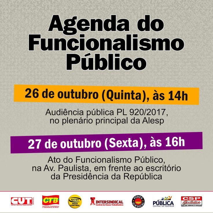 Agenda do Funcionalismo Público contra os desmontes do Governo Temer!