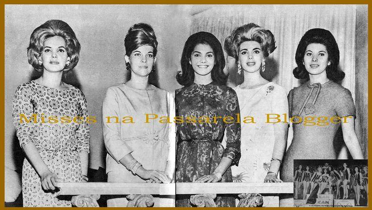 """""""Estimados e queridos amigos, no Miss Brasil nos anos 60 era comum a presença de ex-misses Brasil no ginásio do Maracanãzinho, seja como convidada de honra ou fazendo parte da banca de jurados...."""""""