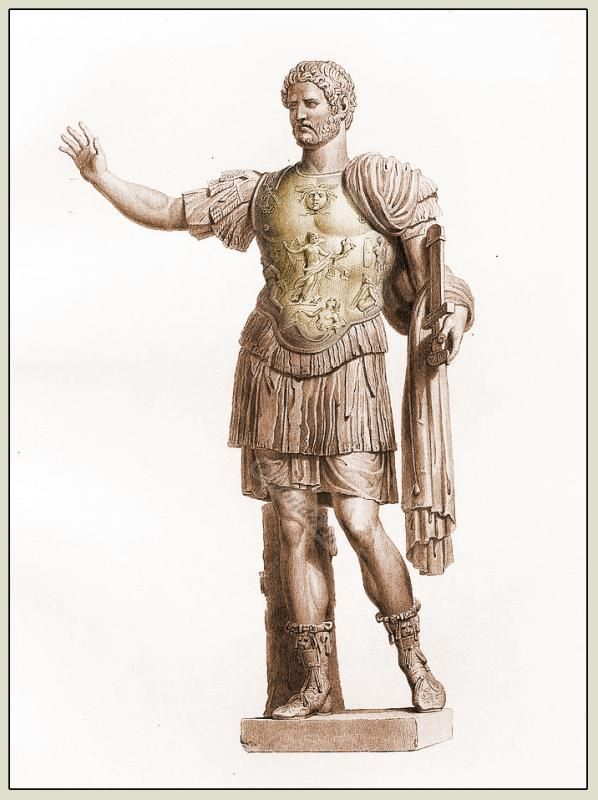 Statue of Hadrian in full military costume. | Costumes and ...