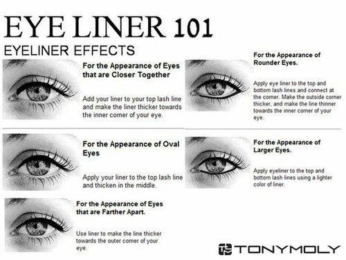 : Make Up, Beauty Tips, Makeup Tips, Eyeliner101, Eyeliner Effects, Eye Liner, Eyes