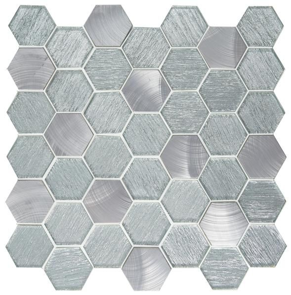 Glitz Emser Hexagonal Mosaic Glass Mosaic Tiles