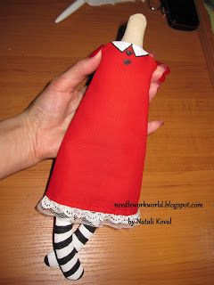 pattern dress for fabric doll