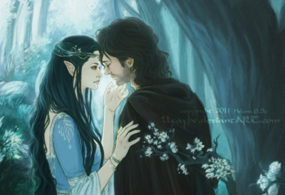 Beren of the Edain House Beor and Luthien daughter of Sindarin elven king Thingol and Maia Melian