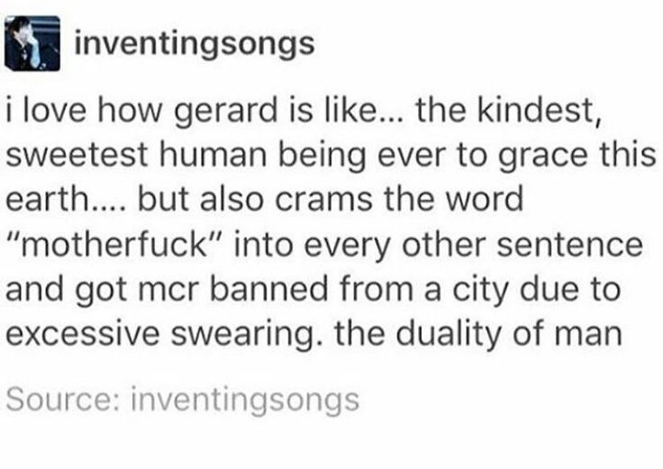 I ABSOLUTELY ADORE GERARD WAY