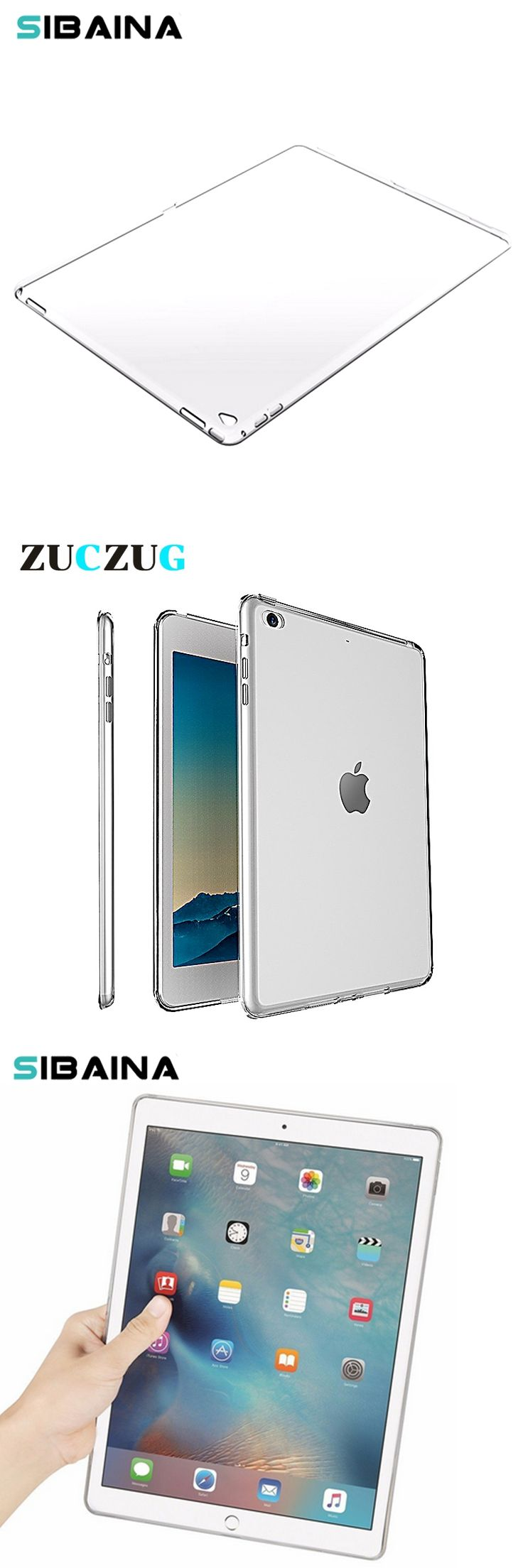 Clear Transparent Silicon TPU Case For iPad Mini 2 3 4 Back Cover Case For iPad Air 2 Case Slim Tablet Cover For iPad 2 3 4 5 6