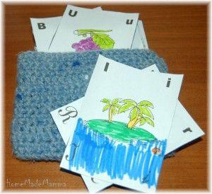 Carte morbide per giocare con l'alfabeto