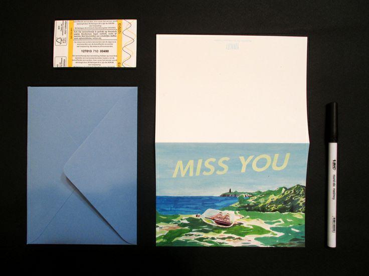 Miss you card - yonacity
