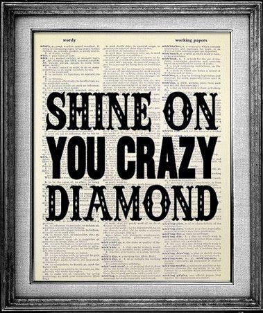 Pink Floyd Shine on You Crazy Diamond Dictionary Print