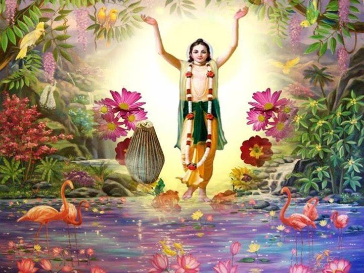 Chant Hare Krishna mantra and be transported.