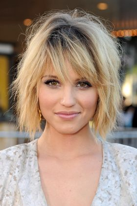10 Hair Trends You'll Want to Try in 2012Haircuts, Bobs Hairstyles, Dianna Agron, Layered Bobs, Messy Bob, Hair Cut, Shorts Bobs, Hair Style, Shorts Hairstyles