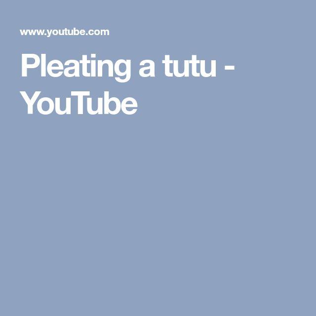 Pleating a tutu - YouTube