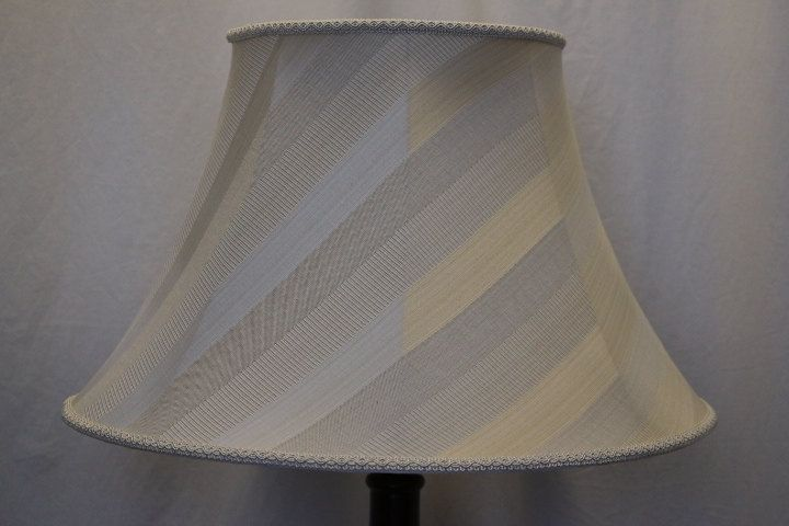 Round Empire lamp shade striped large small beige cream by LampshadesSheetsTrim on Etsy