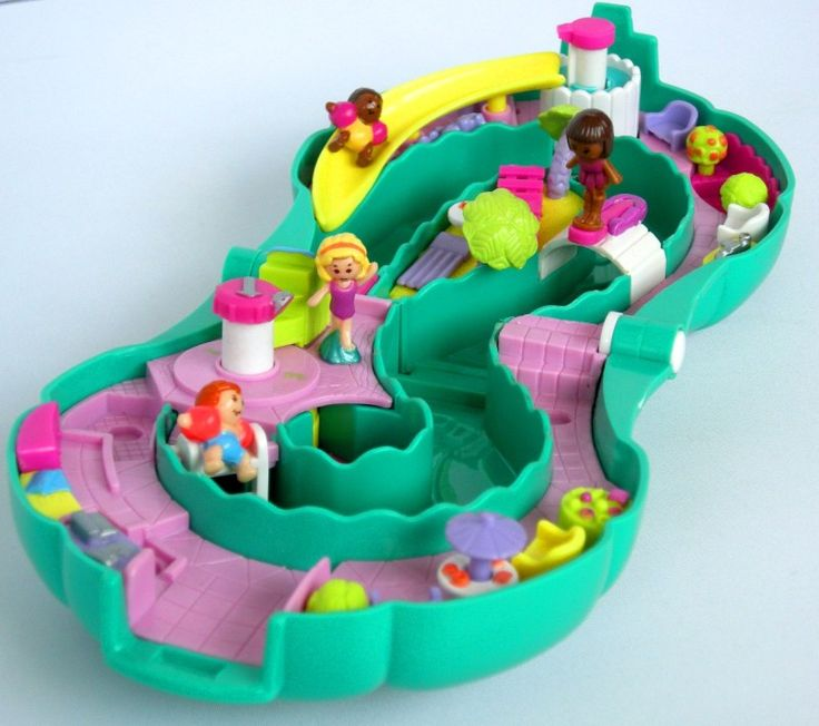 Polly Pocket.  Water, everywhere!