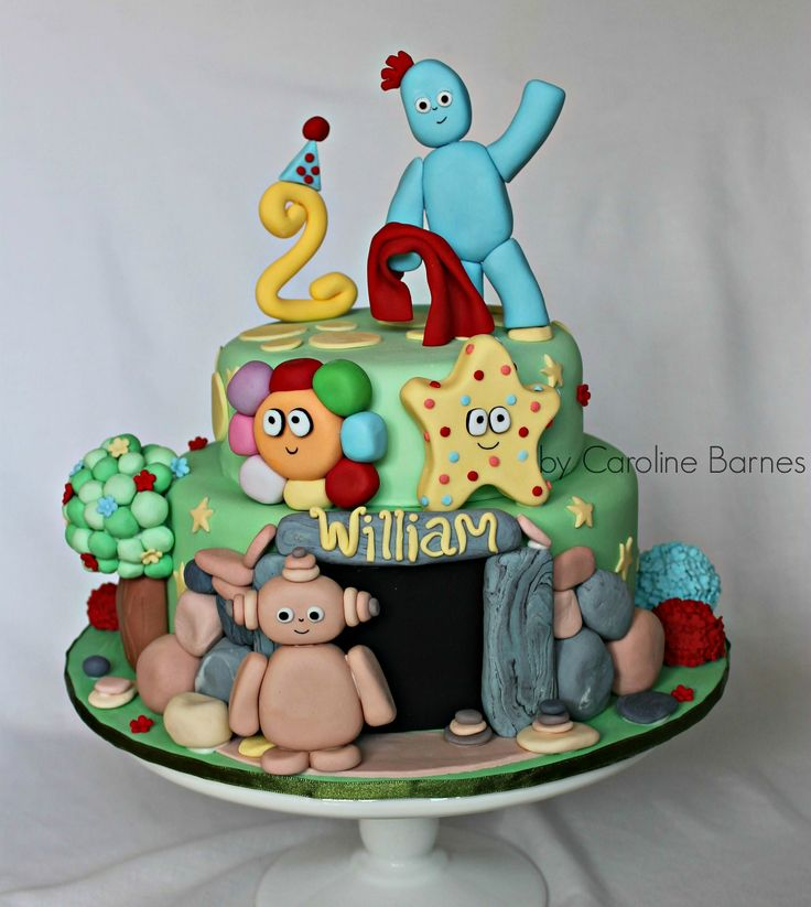 In the night garden cake - With Iggle piggle, Makka Pakka & Haahoos.