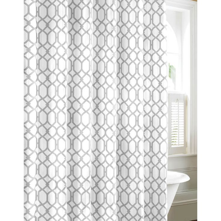 Tommy Bahama Shoretown Trellis Gray Cotton Shower Curtain - Overstock Shopping - Great Deals on Tommy Bahama Shower Curtains $27
