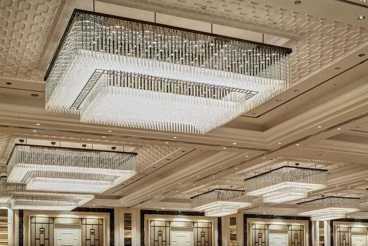 Bomonti Hilton Hotel Istanbul Ballroom, Turkey. #conference #room #hospitality #crystal #chandelier #lighting #design