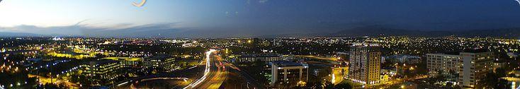 City scape at night, San Jose, CA