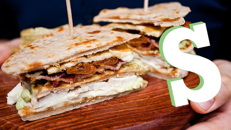 FLATBREAD CHICKEN CLUB SANDWICH RECIPE - SORTED- but can be done without chicken