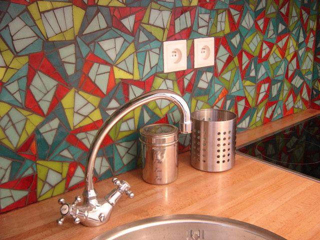 credence cuisine mosaique de verre | Flickr - Photo Sharing!