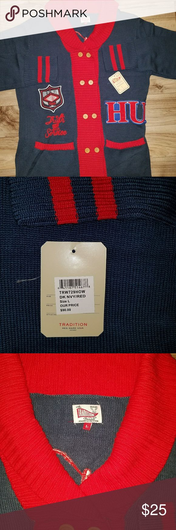 """Men's Cardigan sweater. """"Traditions""""  brand. Thick soft cable knit. Nice quality made. traditions Sweaters Cardigan"""
