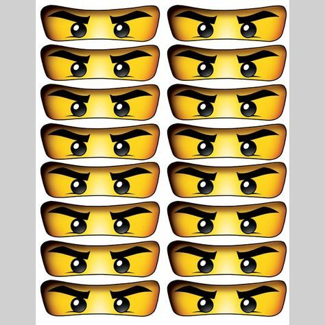 Free Printable Ninjago Eyes