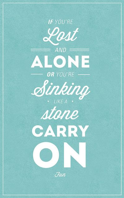 Carry On by OPTIC., via Flickr