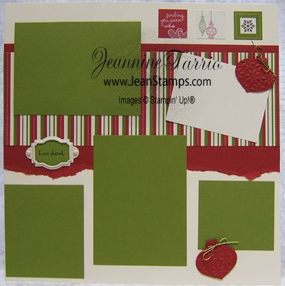 scrapbooking page layout with stampin up stamps | ... Christmas Jingle Simply Scrappin' Kit Scrapbooking Pages and Cards