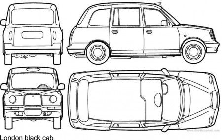London Taxi Colouring Pages