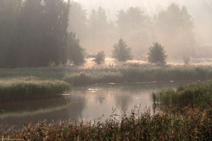 Sunrise over the lake by krystyna kupiszak