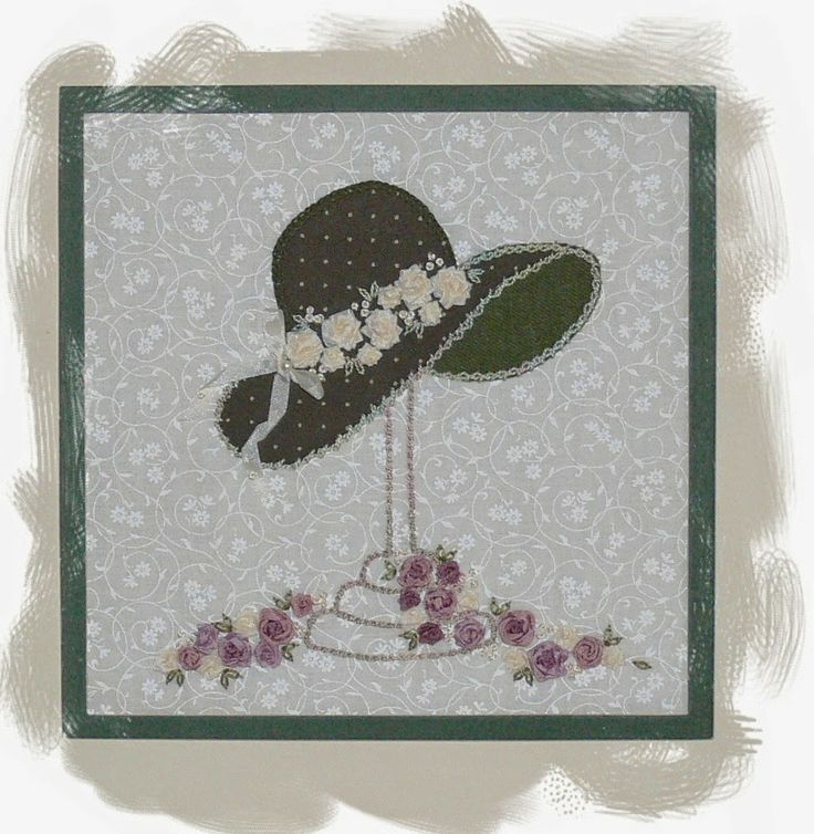 A Millinery Moment is a delightful combination of applique and silk ribbon embroidery with a vintage feel. Val Laird Designs