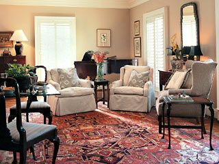 With A Patterned Persian Rug Already In Use In This Home