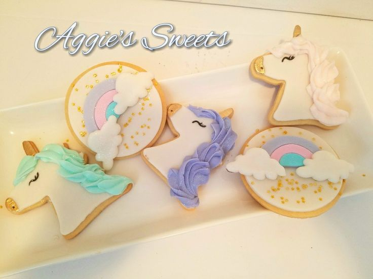 Unicorn themed cookies