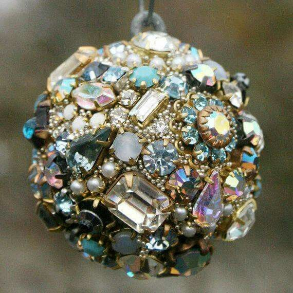 Made from broken costume jewelry