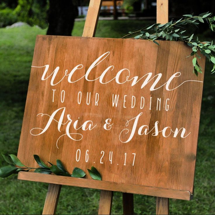 Simple Personalized Wedding Welcome Sign Names And Date Decal Etsy Wedding Welcome Signs Personalized Wedding Wedding Signs