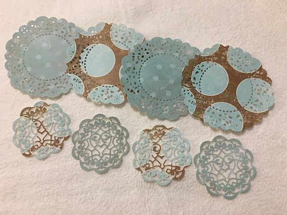 Paper Doilies...8 Piece Set of Very Cute and Adorable French Pastry and Sophia's Heart Paper Doilies Scrapbook Embellishments