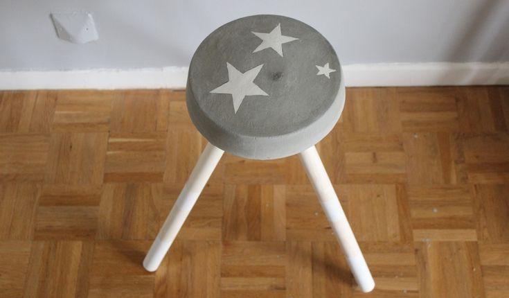 diy fabriquez un tabouret en ciment en mode r cup 39 fabriquer des objets en b ton. Black Bedroom Furniture Sets. Home Design Ideas