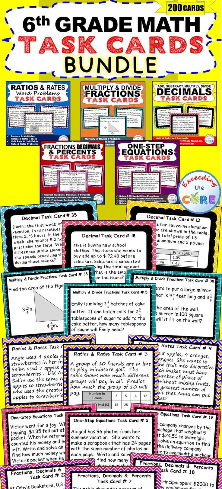 Common core math worksheets for 6th graders