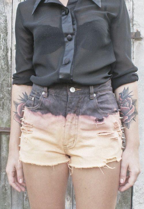 Forearm rose & swallow tattoo