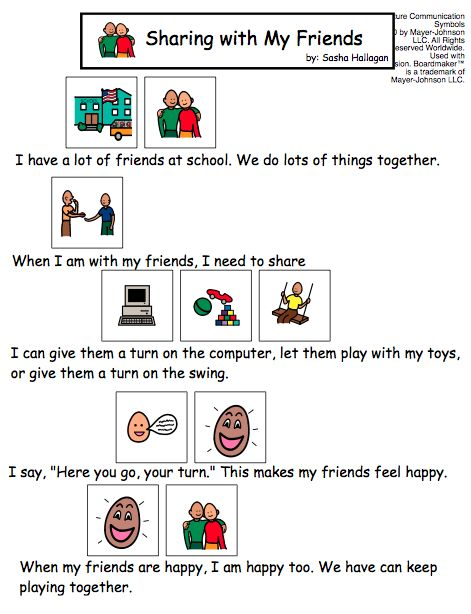 Sharing with My Friends - Visual Story for Kids with Autism (SOCIAL SKILLS)