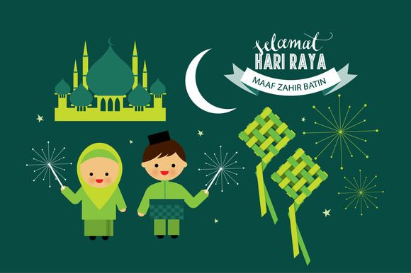 hari raya elements vector by lyeyee on Creative Market